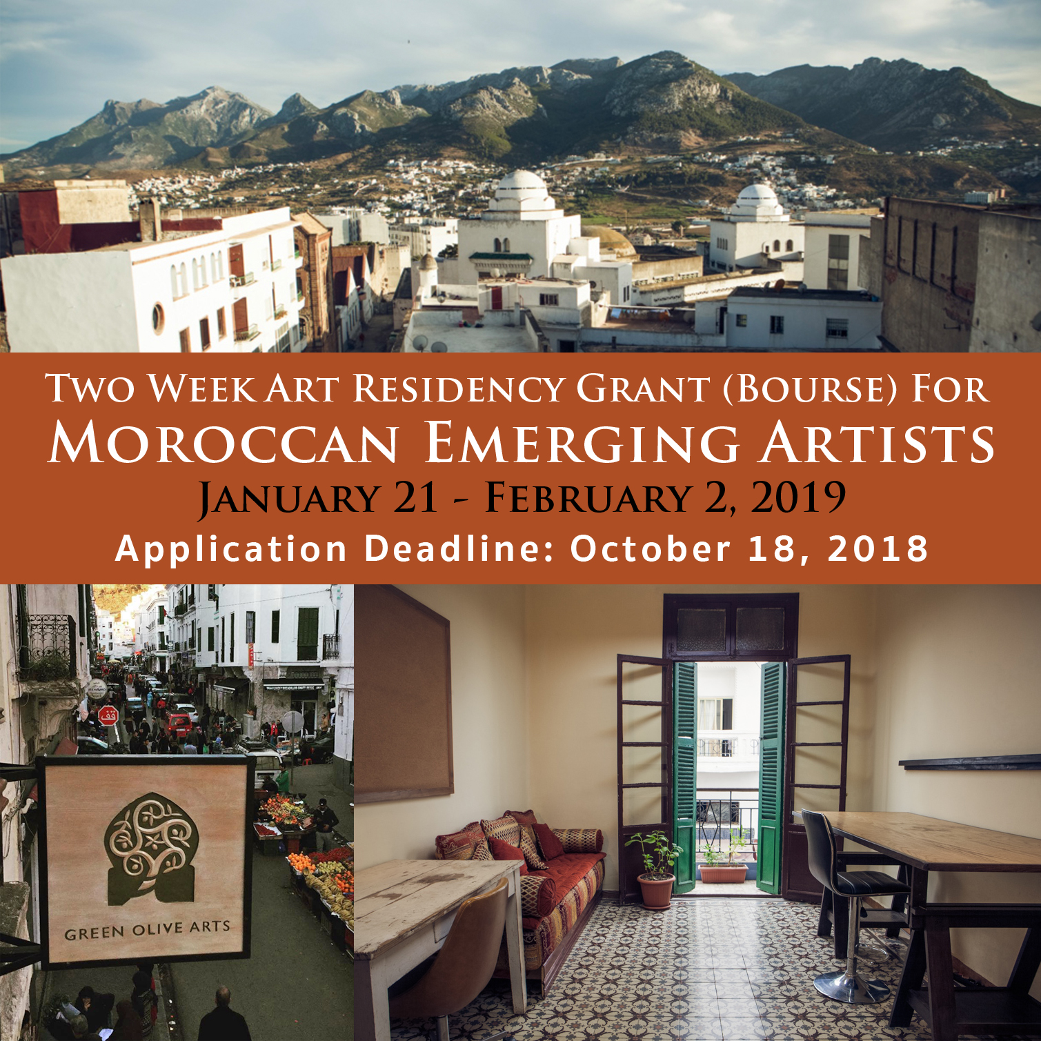 Residency Grant for Moroccan Emerging Artists - Green Olive Arts